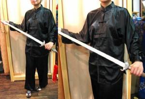 太極拳スーツ(太極拳表演服) 黒色2