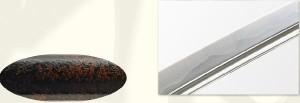 【大久保利通拵】美術日本刀(模造刀) +紫の刀剣袋(裏地付) 付属