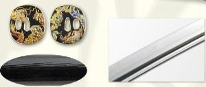 【坂本龍馬拵】美術日本刀(模造刀) +紫の刀剣袋(裏地付) 付属