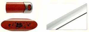 【土方歳三拵】美術日本刀(模造刀) +紫の刀剣袋(裏地付) 付属