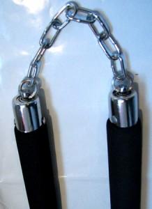 カンフー 二色柄ウレタン製練習用ヌンチャク