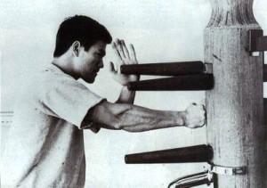 【カンフー】 木人2(木人椿、木人[木庄]) ブルース・リーも使用 超現実的サンドバッグ(木製)