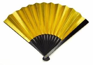 鉄扇8寸・金色