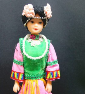 中国少数民族人形 「トン族(?族)」