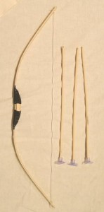 竹製手作り 弓矢セット小 69cmタイプ 【懐かしの玩具】