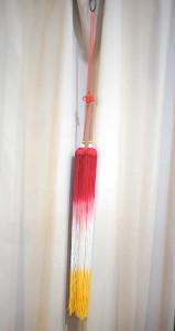 剣穂(けんすい)  太極拳カンフー刀剣用の房飾り 100cm (赤→白→黄)