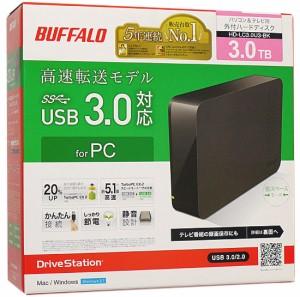 BUFFALO 外付HDD■DriveStation HD-LC3.0U3-BK■3.0TB■未開封【即納】【送料無料】≪バッファロー ハードディスク 外付け ブラック≫