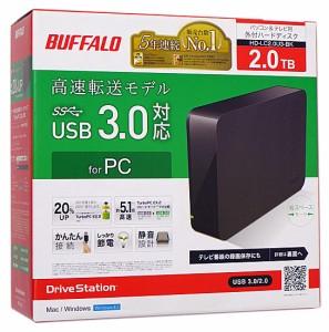 BUFFALO 外付HDD■DriveStation HD-LC2.0U3-BK■2.0TB■未開封【即納】≪バッファロー ハードディスク 外付け ブラック≫