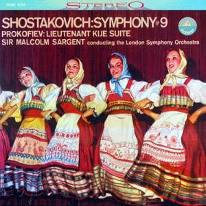 【SACD輸入】 Shostakovich ショスタコービチ / ショスタコーヴィチ:交響曲第9番、プロコフィエフ:『キージェ中尉』 サー