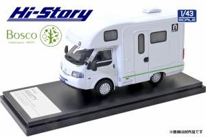 ハイストーリー 1/43 AtoZ AMITY Bosco キャンピングカー (マツダ ボンゴトラック 2019) グリーンライン HS313GR  ミニカー  返品種別B