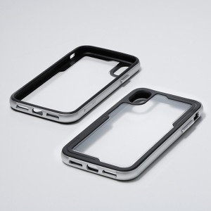 a5afb359e7 ディーフ iPhone XS/X用 耐衝撃アルミバンパーケース タフバンパー(シルバー)