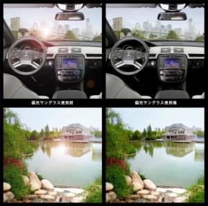 サングラス 偏光 サングラス ウェリントン メンズ レディース ドライブ 釣り ao028 バネ丁番 フレキシブルテンプル