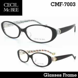 セシルマクビー 眼鏡フレーム メガネフレーム めがね レディース かわいい おしゃれ CMF-7003 ケース付き【送料無料※沖縄以外】