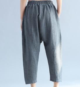 大きいサイズ レディース ファッション L XL パンツ 人気 シンプル無地 股下深め 【予約】 bcmo-2033TS