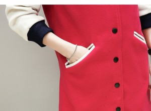 ノーカラーコート チュニック丈 ボタンダウン 袖リブ アウター 大きいサイズ レディース【予約】jtv-25565TS