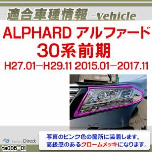ri-ta006-01 ヘッドライト用 ALPHARD アルファード(30系前期 H27.01-H29.11 2015.01-2017.11)トヨタ クロームメッキランプトリム ガーニ