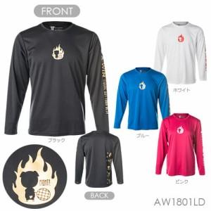 A-WIN 1801LD FIGHT 長袖 Tシャツ(ユニ/ メンズ/ ジュニア) バドミントンウェア アーウィン【クリックポスト可/ハシルトンシリーズ/ 限定