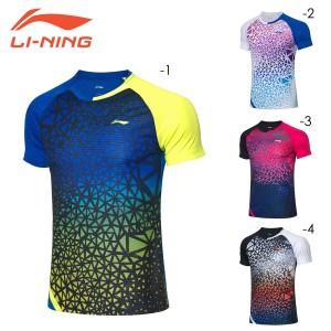 LI-NING AAYQ071 ゲームシャツ(ユニ/メンズ) 中国ナショナルチーム バドミントンウェア リーニン【日本バドミントン協会検定合格品/メー