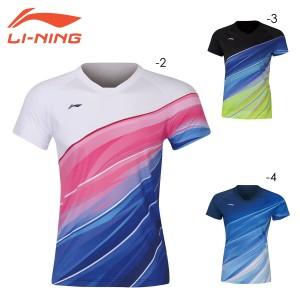 LI-NING AAYQ072 ゲームシャツ(レディース) 中国ナショナルチーム バドミントンウェア リーニン【日本バドミントン協会検定合格品/メール