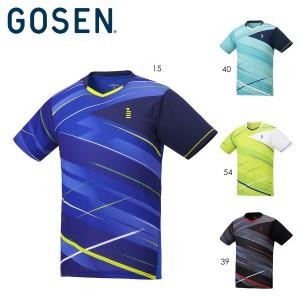 GOSEN T2046 ゲームシャツ(メンズ/ユニ) バドミントンウェア ゴーセン 2020FW【日本バドミントン協会検定合格品/メール便/取り寄せ】