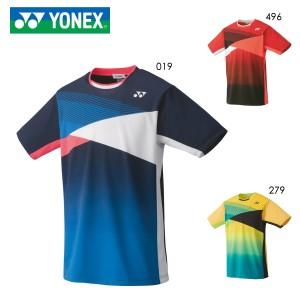 YONEX 10367 ユニゲームシャツ(フィットスタイル) テニス・バドミントンウェア(PRACTICE) ヨネックス 2020年秋冬モデル【メール便可/日本