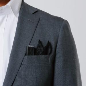poke扇・黒夜・ポケットに入るミニ扇子&ポケットチーフのセット