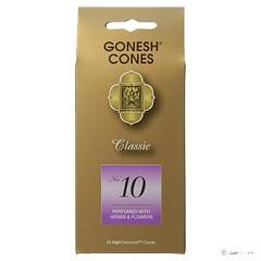 ガーネッシュ GONESH ナンバー インセンス コーン No.10 (ハーブ & フラワー) 25ヶ入 アロマ GONESH CONES NO.10 (HERB & FLOWERS)