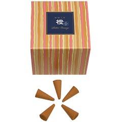 日本香堂 NIPPONKODO かゆらぎ お香 橙 コーン 香立付 12個 アロマ