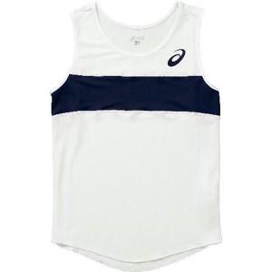 アシックス ASICS 陸上競技用(レディース用) W'Sランニングシャツ XT2035 [カラー:ホワイト×ネイビー] [サイズ:150] #XT2035