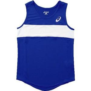 アシックス 陸上競技用(レディース用) W'Sランニングシャツ XT2035 [カラー:ブルー] [サイズ:150] #XT2035 ASICS 送料無料