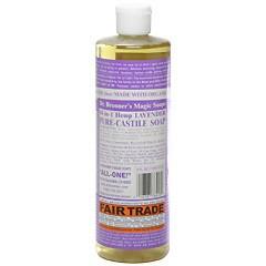 ドクター ブロナー DR BRONNER マジックソープ #ラベンダー 472ml 化粧品 コスメ MAGIC SOAPS 18 IN 1 HEMP LAVENDER PURE CASTILE SOAP