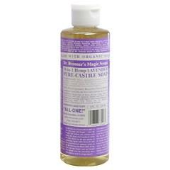 ドクター ブロナー DR BRONNER マジックソープ #ラベンダー 236ml 化粧品 コスメ MAGIC SOAPS 18 IN 1 HEMP LAVENDER PURE CASTILE SOAP