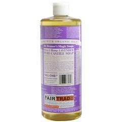 ドクター ブロナー DR BRONNER マジックソープ #ラベンダー 944ml 化粧品 コスメ MAGIC SOAPS 18 IN 1 HEMP LAVENDER PURE CASTILE SOAP
