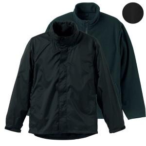 33%OFF 送料無料 ナイロン&フリース 3WAYスタンドジャケット(フードイン) [カラー:ブラック×ブラック] [サイズ:L] #7042-01-2002