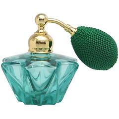 カラフル クリスタルアトマイザー ドイツ製 クリスタル香水瓶 28077 (クリスタルホシ グリーン) 25ml