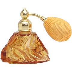 カラフル クリスタルアトマイザー ドイツ製 クリスタル香水瓶 28078 (クリスタル アンバー) 25ml
