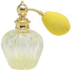 カラフル クリスタルアトマイザー ドイツ製 クリスタル香水瓶 32079 (クリスタル イエロー) 45ml