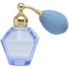 ヒロセ アトマイザー HIROSE ATOMIZER カラフル クリスタルアトマイザー ドイツ製 クリスタル香水瓶 28076 (クリスタル ブルー) 25ml
