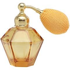 カラフル クリスタルアトマイザー ドイツ製 クリスタル香水瓶 28076 (クリスタル アンバー) 25ml