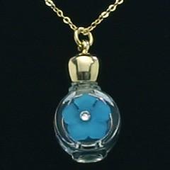 ヒロセ アトマイザー HIROSE ATOMIZER 1cc アロマペンダント 密閉栓タイプ 12070P 花飾り (ブルー) 1ml