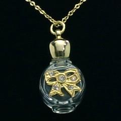 ヒロセ アトマイザー HIROSE ATOMIZER 飾り付 アロマペンダント 密閉栓タイプ 12074P リボン (ゴールド) 1ml