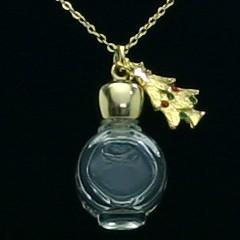 【香水 ヒロセ アトマイザー】HIROSE ATOMIZER 飾り付 アロマペンダント 密閉栓タイプ 12076P ツリー (ゴールド) 1ml