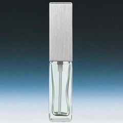 ヤマダアトマイザー YAMADA ATOMIZER メンズアトマイザー 15491 角ビン クリア キャップ ヘアラインシルバー 約4ml