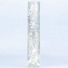 ヤマダアトマイザー YAMADA ATOMIZER グラスアトマイザー プラスチックポンプ 柄 50121 バラ シルバー 4.7ml