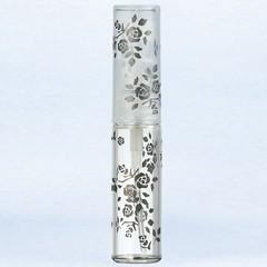 ヤマダアトマイザー YAMADA ATOMIZER グラスアトマイザー プラスチックポンプ 柄 50122 バラ ブラック 4.7ml