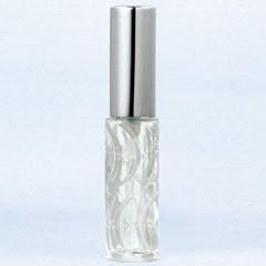 ハンドメイドグラスアトマイザー プラスチックポンプ 70142 ムーンスター クリア アルミキャップ シルバー 約3.5ml