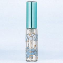 ヤマダアトマイザー YAMADA ATOMIZER グラスアトマイザー プラスチックポンプ 柄 80301 ポピー アルミキャップ ブルー 4ml