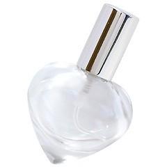 ハンドメイドグラスアトマイザー プラスチックポンプ 90201 ハートビン クリア アルミキャップ シルバー 9ml