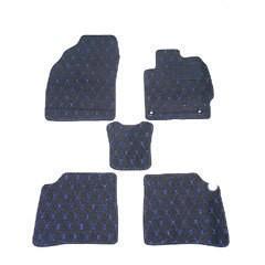 天野 AMANO フレア 年式:H24〜 フロアマット一式 ダイヤモンド [カラー:ブラック×ブルー] カー用品