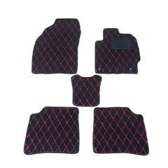 天野 AMANO フレア 年式:H24〜 フロアマット一式 ダイヤモンド [カラー:ブラック×ピンク] カー用品